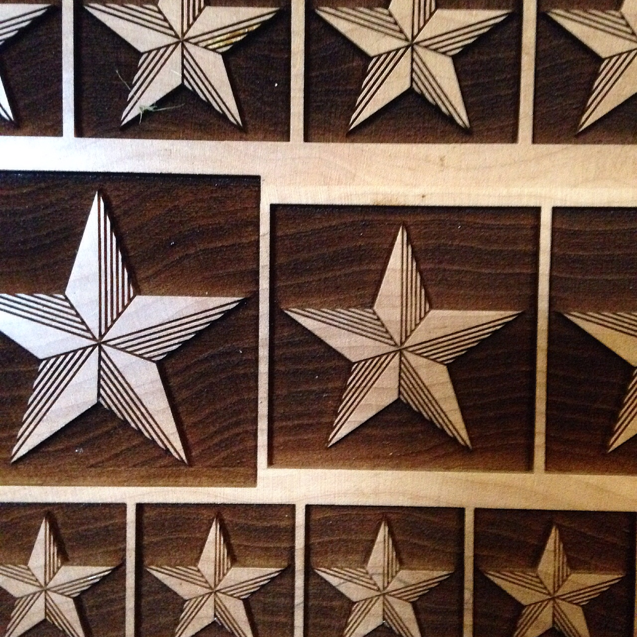 Laser cut slab of fiinal stars